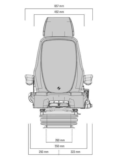 Grammer Crane Seats : Grammer actimo evolution crane seat no dealer