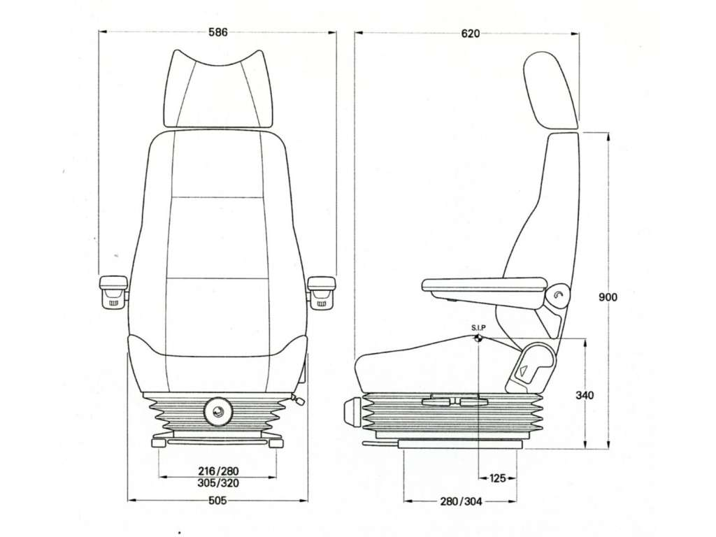 Kab 414 seat mechanical truck bus main dealer - Dimensiones seat ...