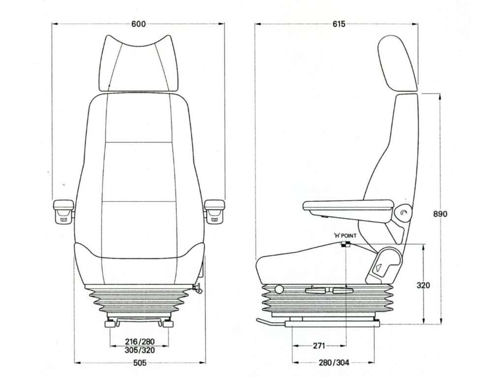 Kab Truck Seats 712 Air Suspension Thomas Scott Seating