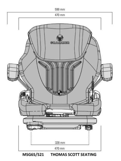 MSG65-521-Grammer-seat-drawing-front