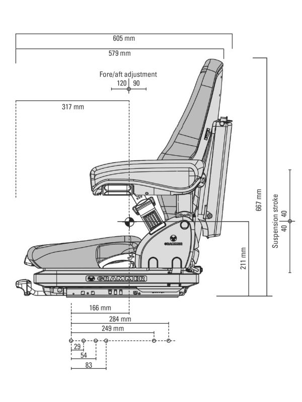 Air Suspension Seats For Forklifts : Msg grammer primo forklift seat best prices