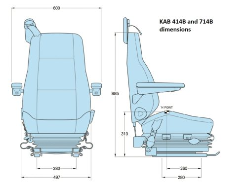 Train driver seat KAB 414B