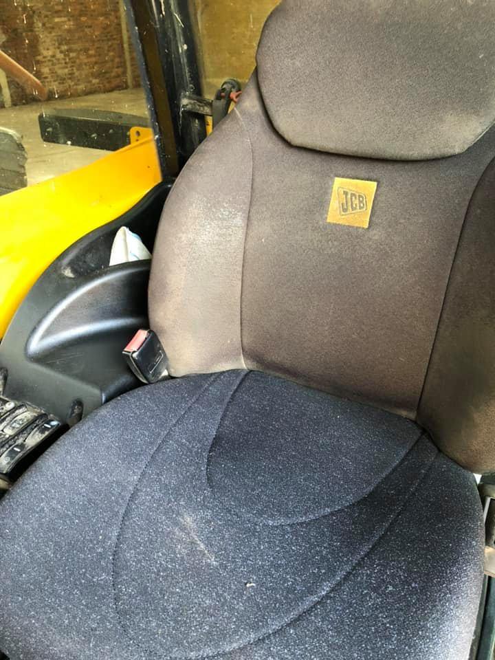 JCB Seat Cushion KAB Black Fabric